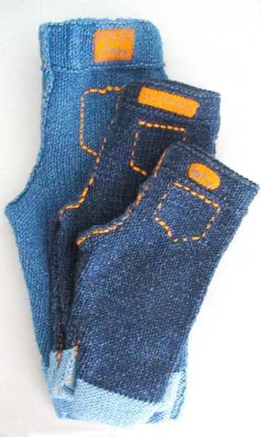 Вязаные джинсы В таких стильных джинсах ваш малыш будет чувствовать себя...