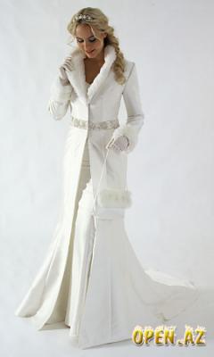 Зимнее свадебное платье.